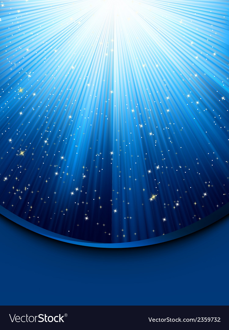 Blue luminous rays eps 8 vector | Price: 1 Credit (USD $1)
