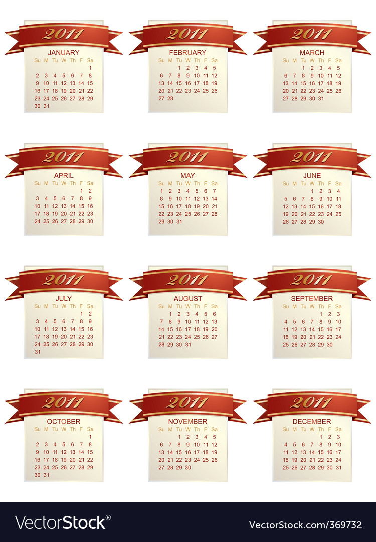 Calender for 2011 vector | Price: 1 Credit (USD $1)