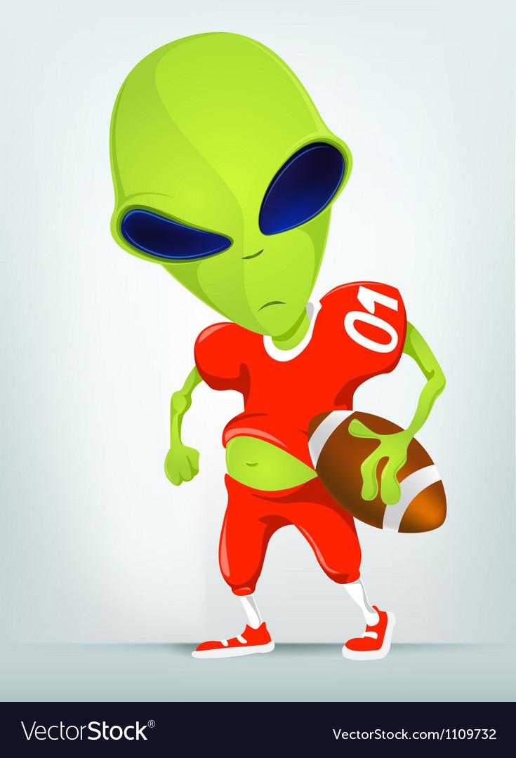 Cartoon alien football vector | Price: 1 Credit (USD $1)
