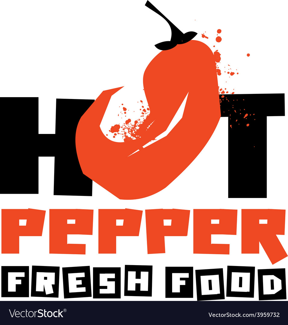 Chilli peppers logo design template vector