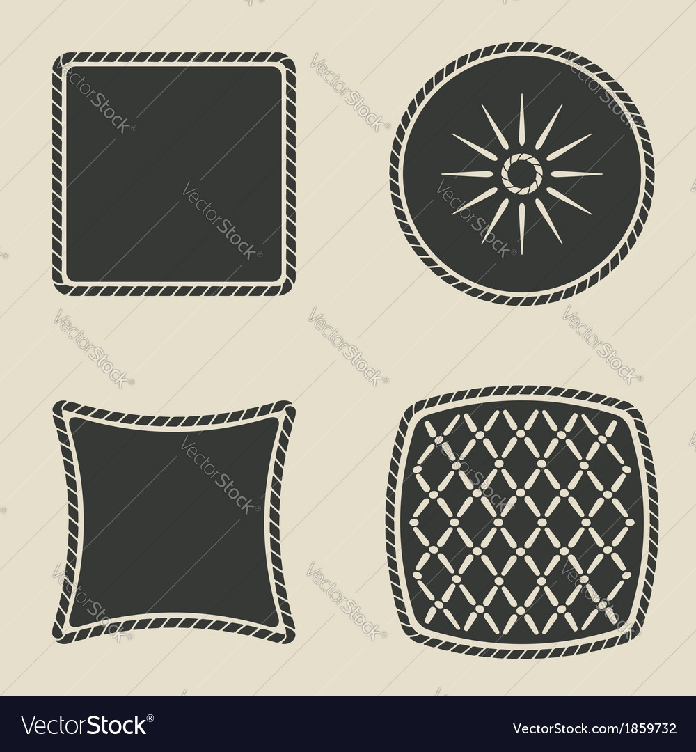 Cushion stylized icons set vector | Price: 1 Credit (USD $1)