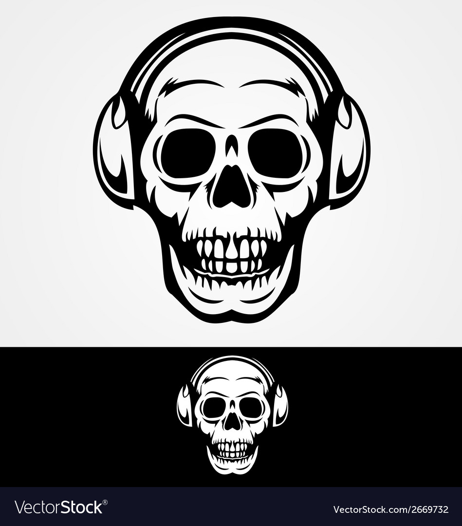 Dj skulls vector | Price: 1 Credit (USD $1)