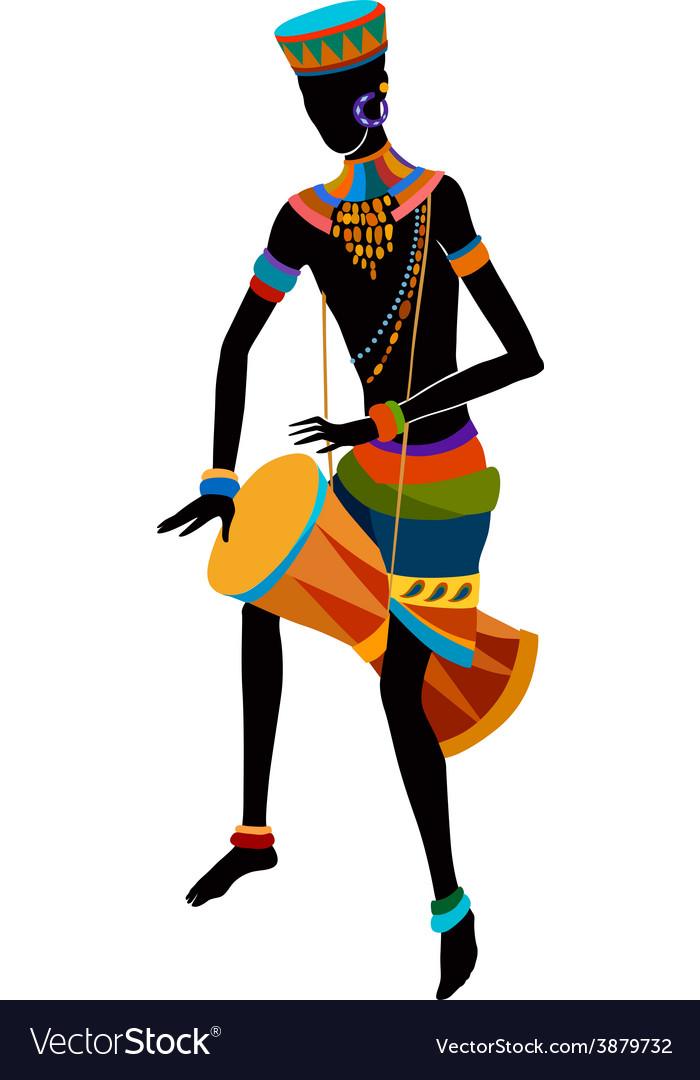 Ethnic dance african man vector | Price: 1 Credit (USD $1)