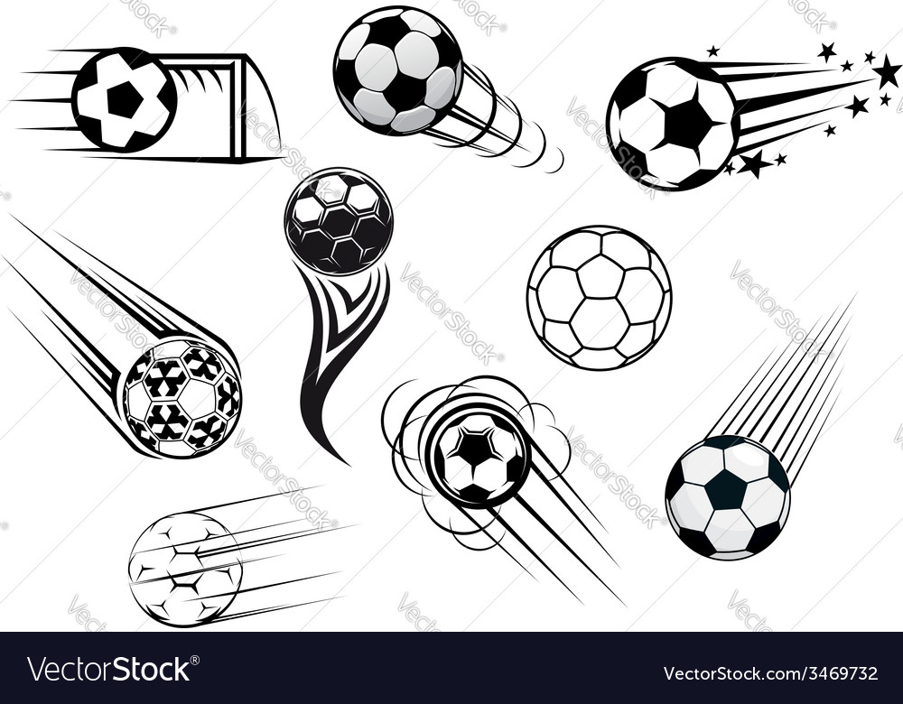 Flying soccer balls vector | Price: 1 Credit (USD $1)