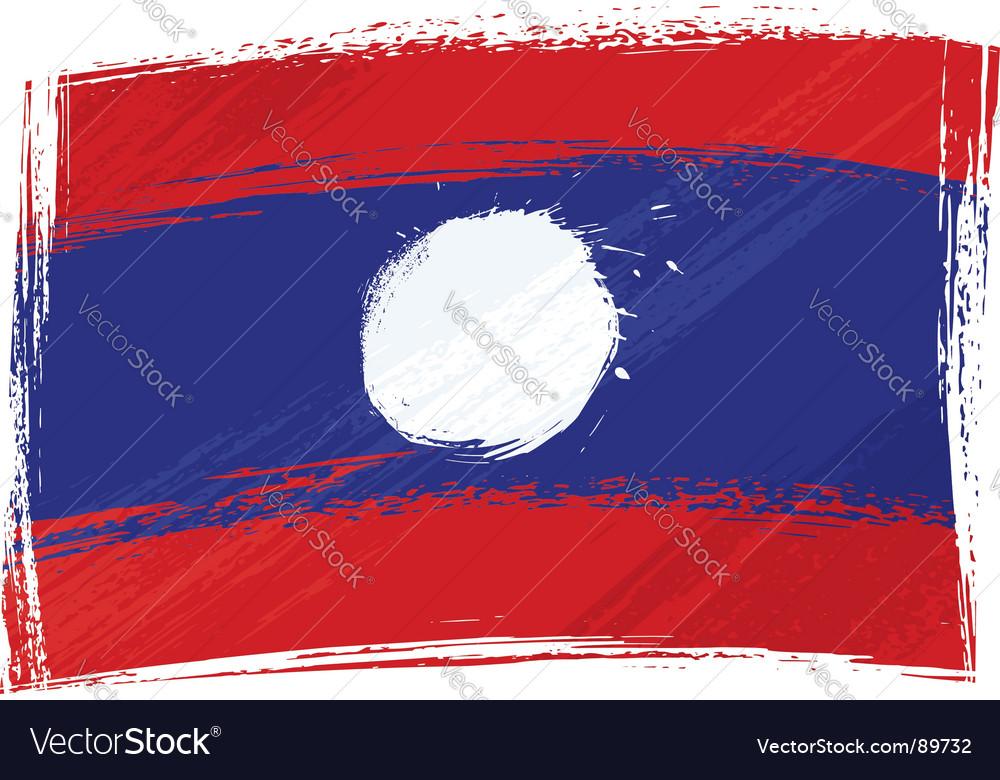 Grunge laos flag vector | Price: 1 Credit (USD $1)