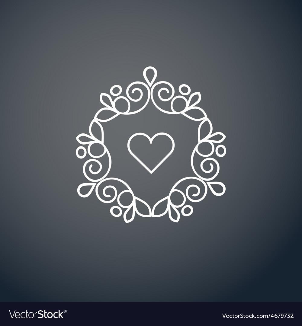 Lineart logo design elements vector   Price: 1 Credit (USD $1)
