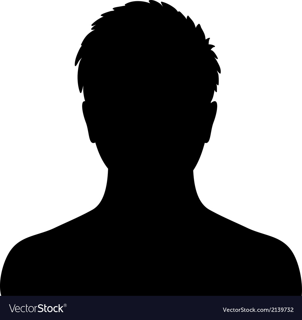 Man silhouette profile picture vector | Price: 1 Credit (USD $1)