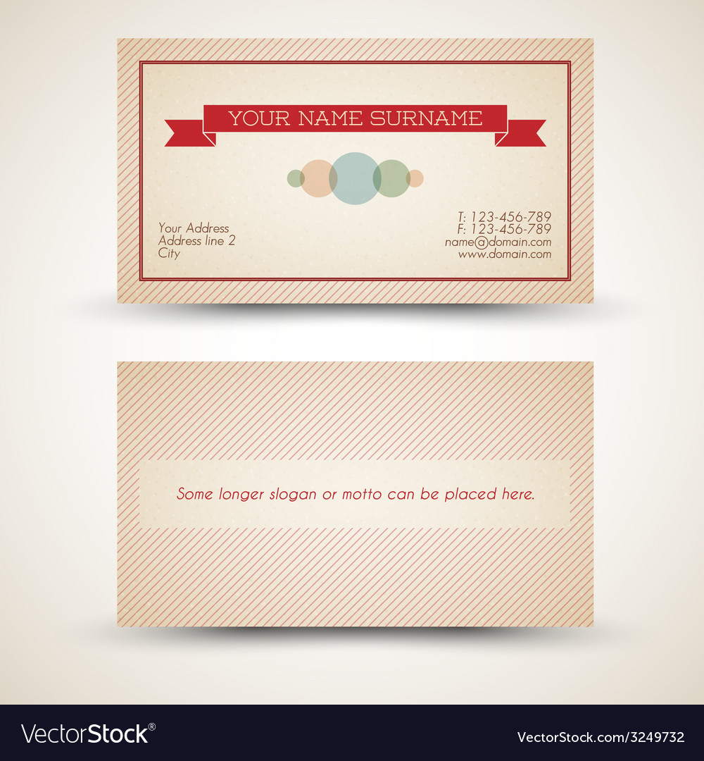 Old-style retro vintage business card vector | Price: 1 Credit (USD $1)