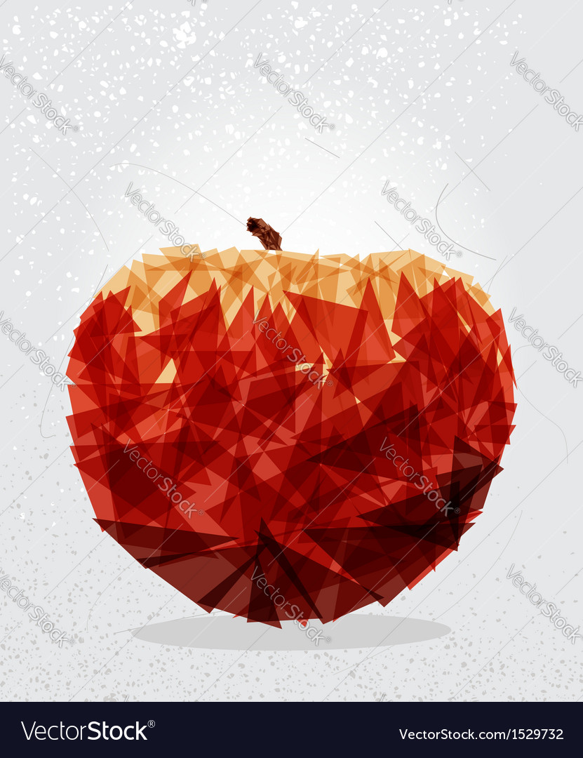 Red apple geometric shape vector | Price: 1 Credit (USD $1)