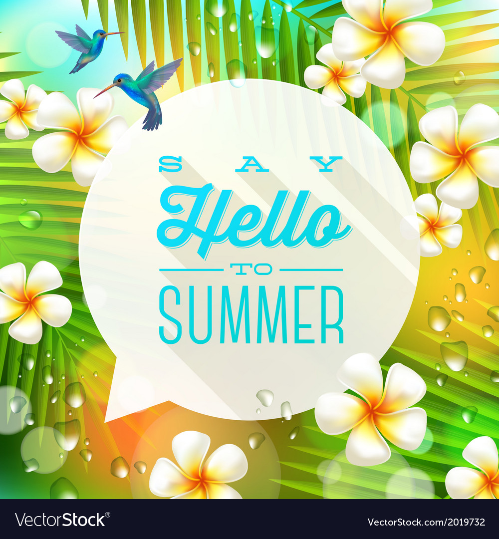 Speech bubble with summer greeting vector | Price: 1 Credit (USD $1)