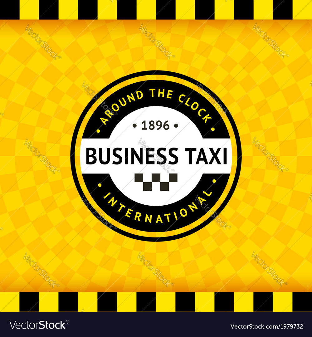 Taxi symbol with checkered background - 24 vector | Price: 1 Credit (USD $1)