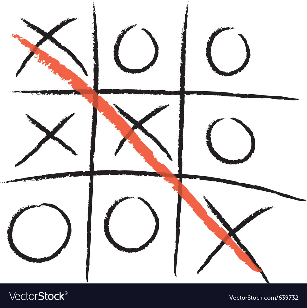 Tic-tac-toe winning vector | Price: 1 Credit (USD $1)
