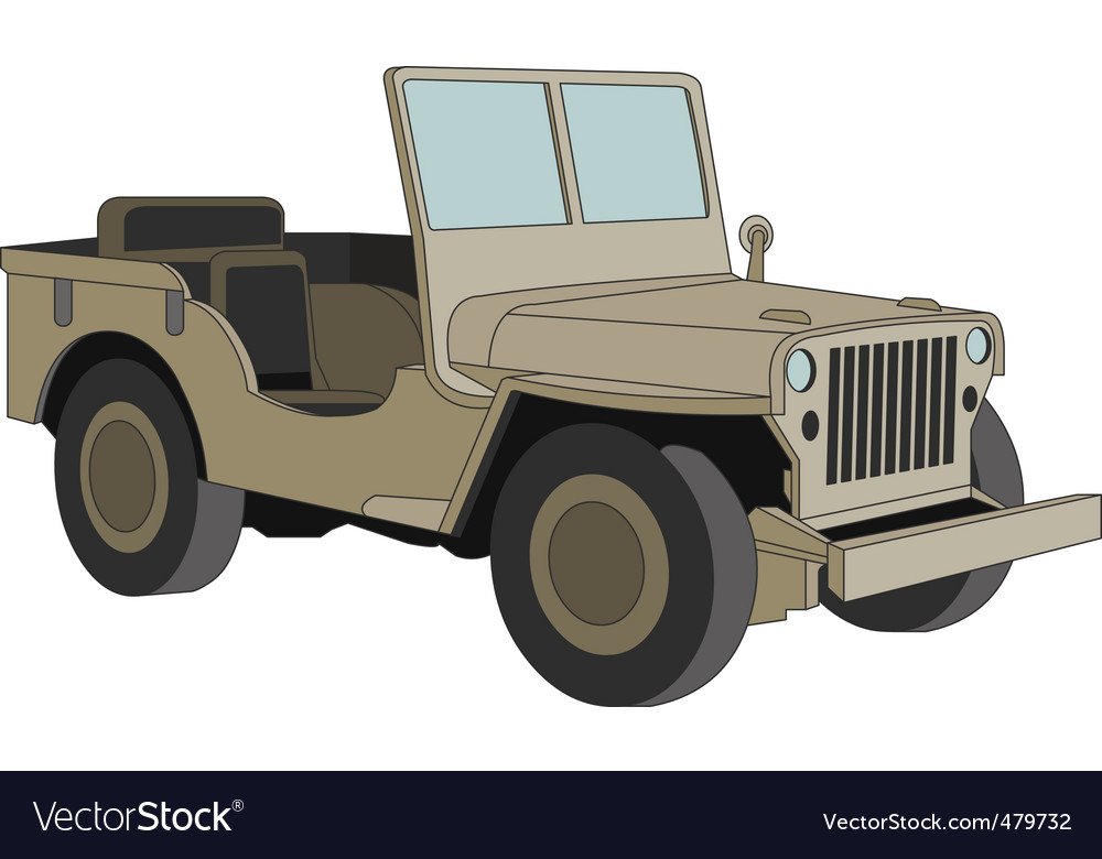 Willys jeep ww 2 vector | Price: 1 Credit (USD $1)