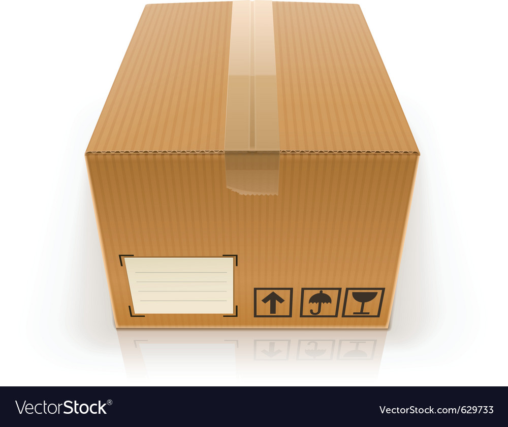 Closed cardboard box vector | Price: 1 Credit (USD $1)