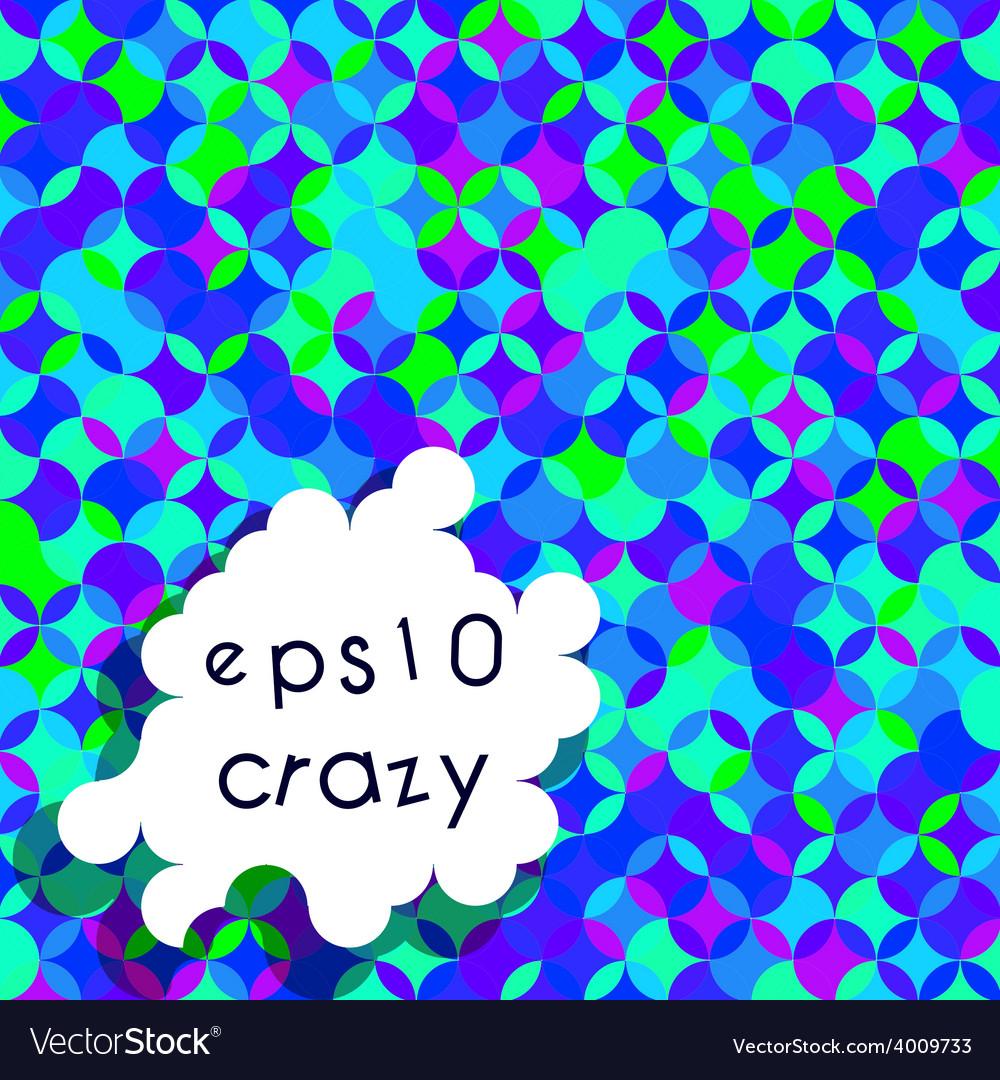 Crazy bright multicolored pattern of circle vector | Price: 1 Credit (USD $1)