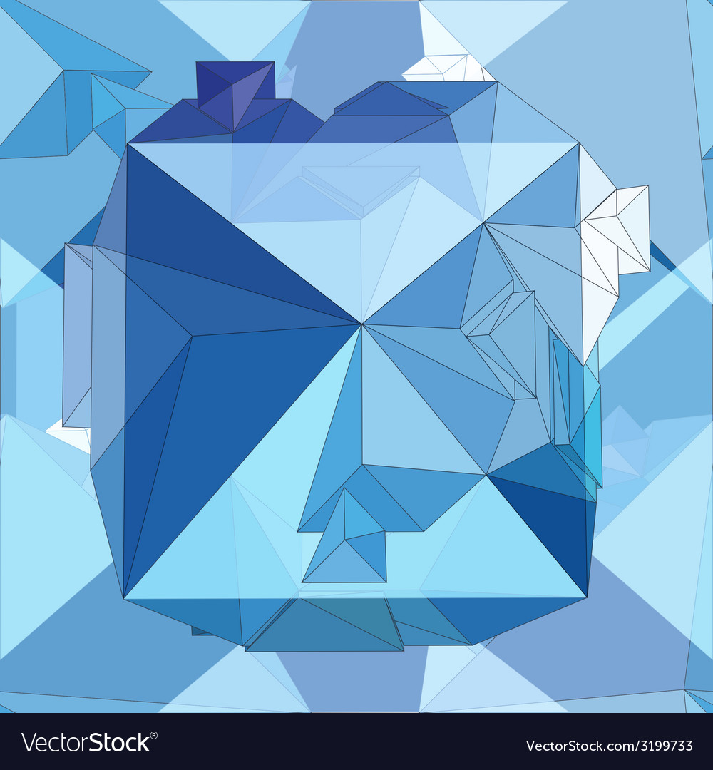 Crystal seamless 3d geometric background vector | Price: 1 Credit (USD $1)