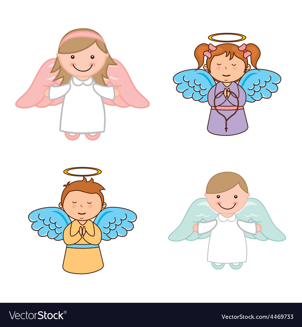 Cute angels vector | Price: 1 Credit (USD $1)