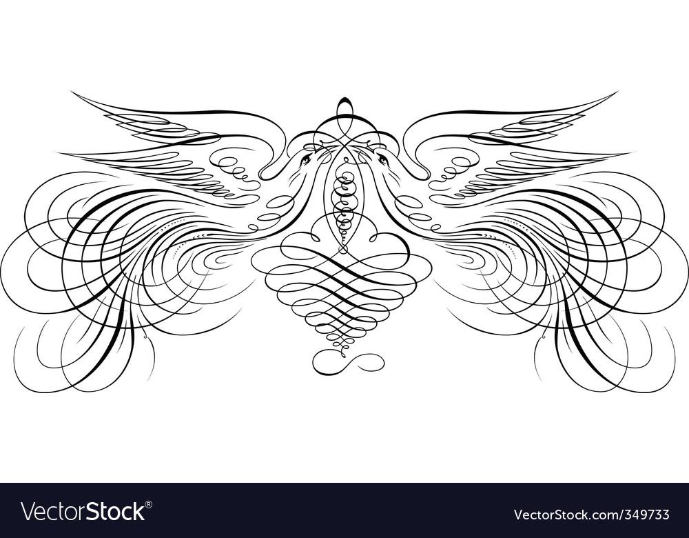 Decorative script vector | Price: 1 Credit (USD $1)