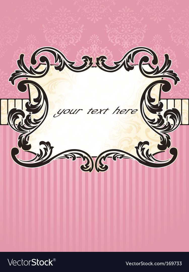 Elegant rectangular french vintage label vector | Price: 1 Credit (USD $1)