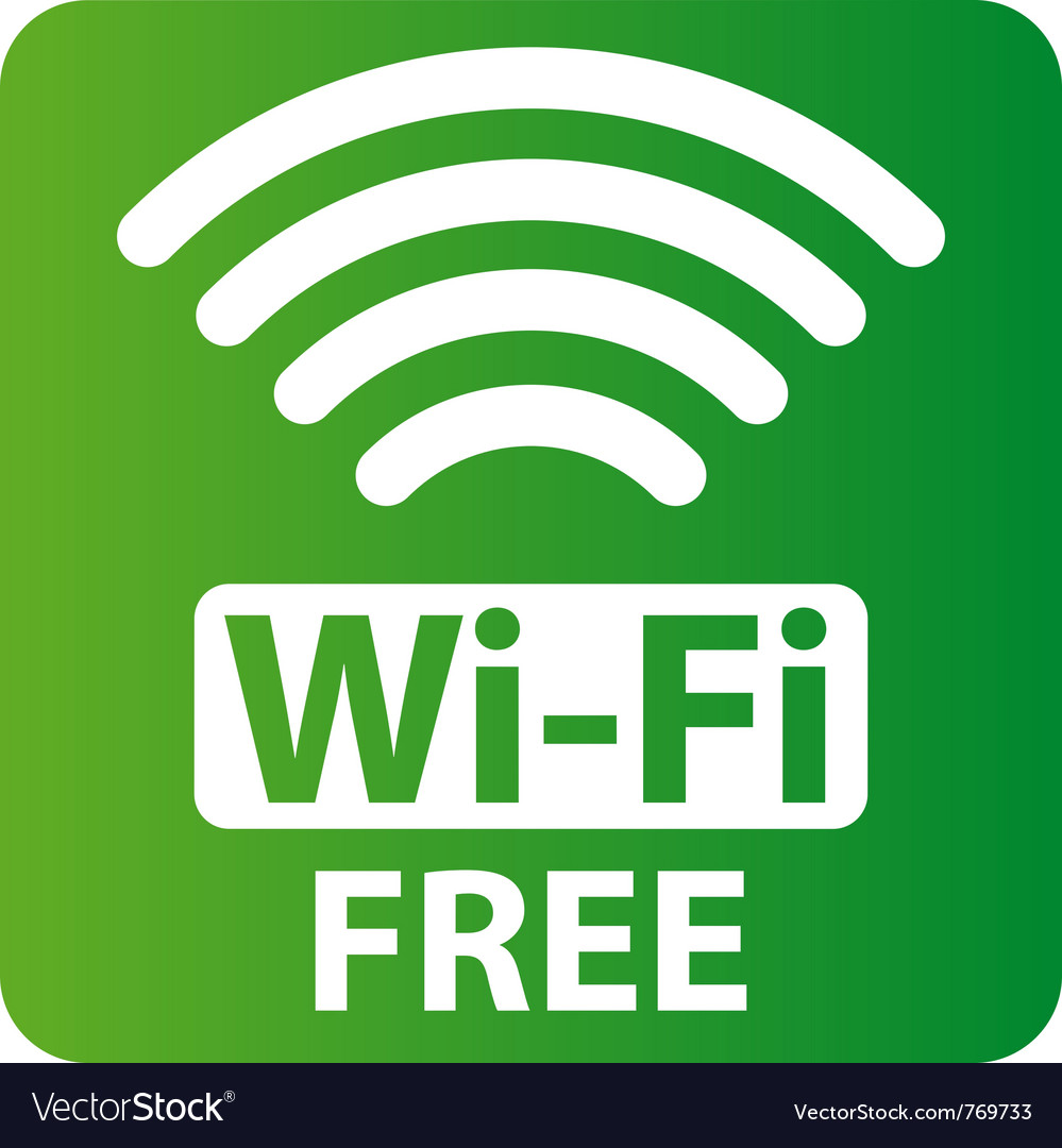 Free wi-fi sign vector | Price: 1 Credit (USD $1)