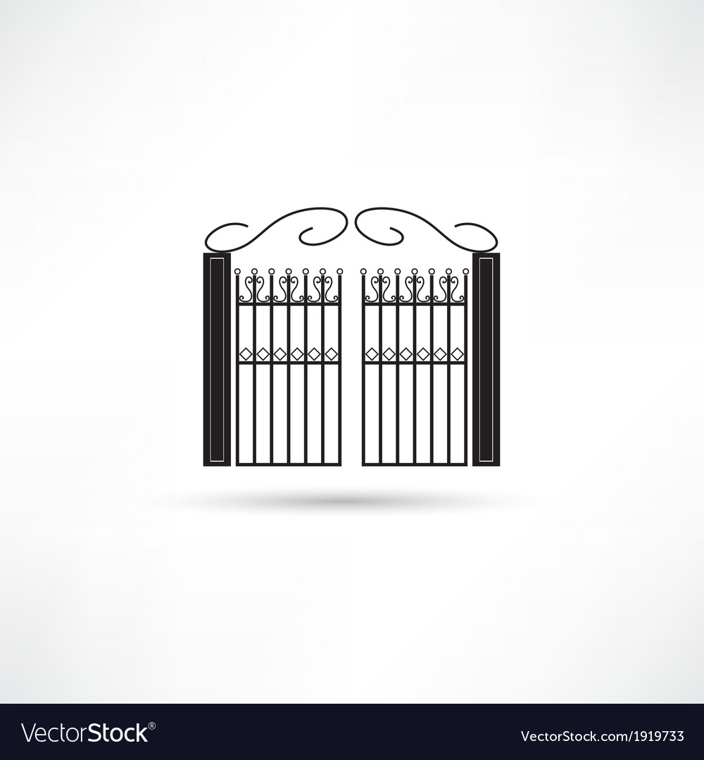 Gate icon vector | Price: 1 Credit (USD $1)