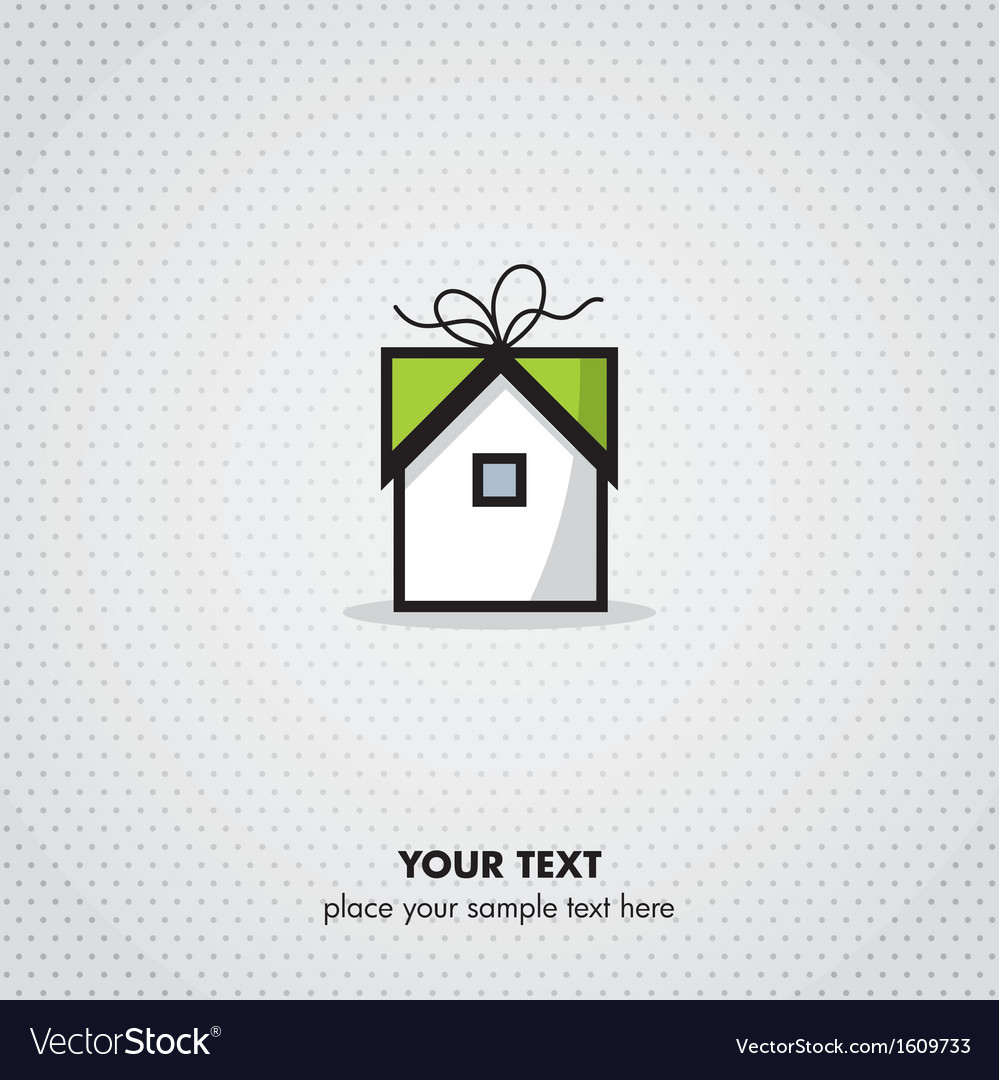 Gift home icon vector | Price: 1 Credit (USD $1)