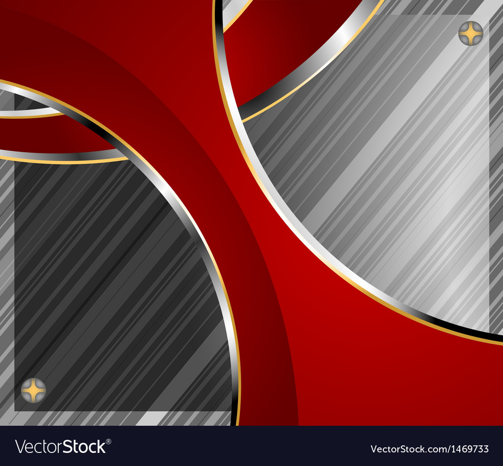 Glass with red curve background vector | Price: 1 Credit (USD $1)