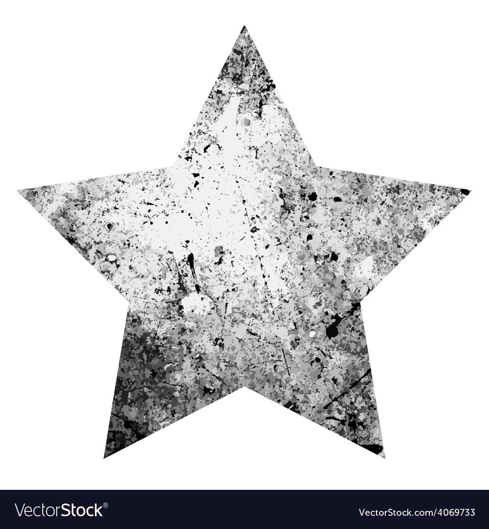 Grunge one star vector