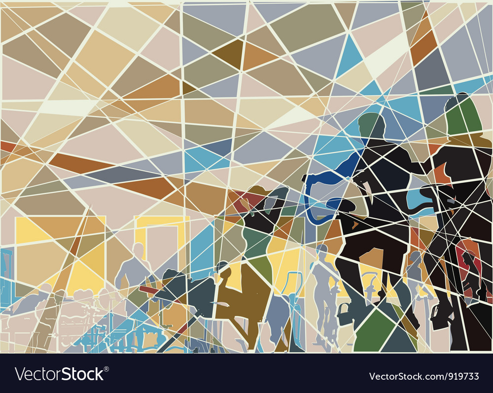 Gymnasium mosaic vector | Price: 1 Credit (USD $1)