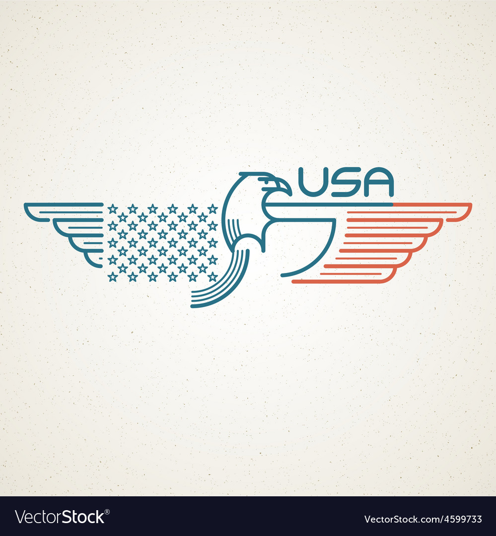 Made in the usa symbol with american flag and vector | Price: 1 Credit (USD $1)