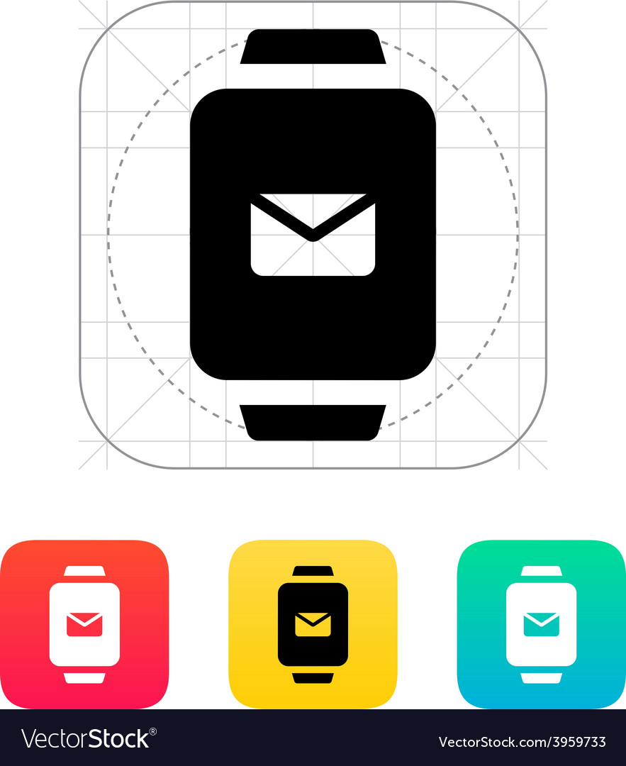 Mail in smart watch icon vector | Price: 1 Credit (USD $1)