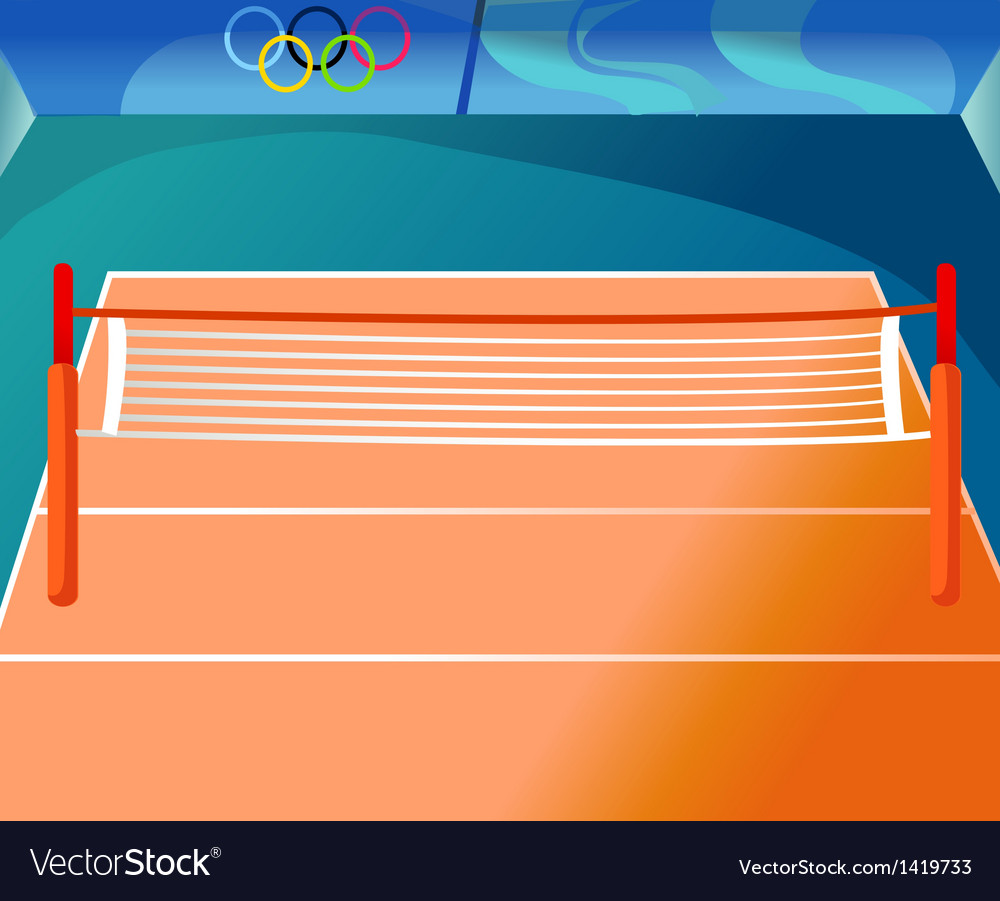 Olympics tennis court vector | Price: 1 Credit (USD $1)
