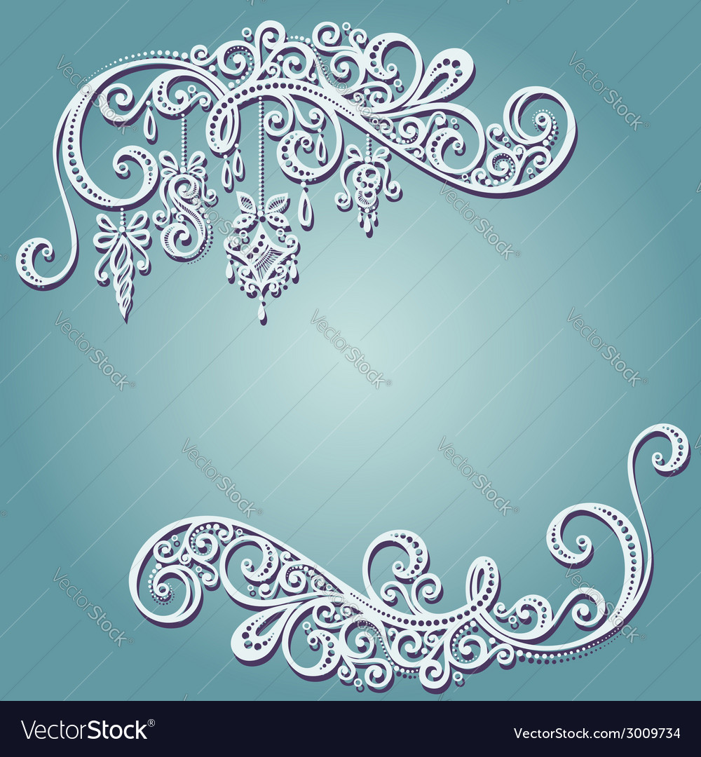 Beautiful holiday frame with christmas decorations vector | Price: 1 Credit (USD $1)
