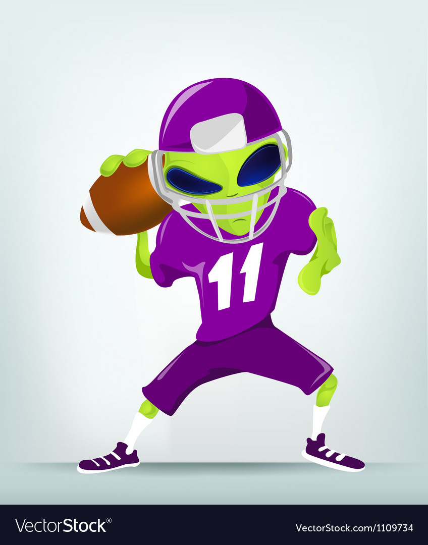 Cartoon alien football vector | Price: 1 Credit (USD $1)