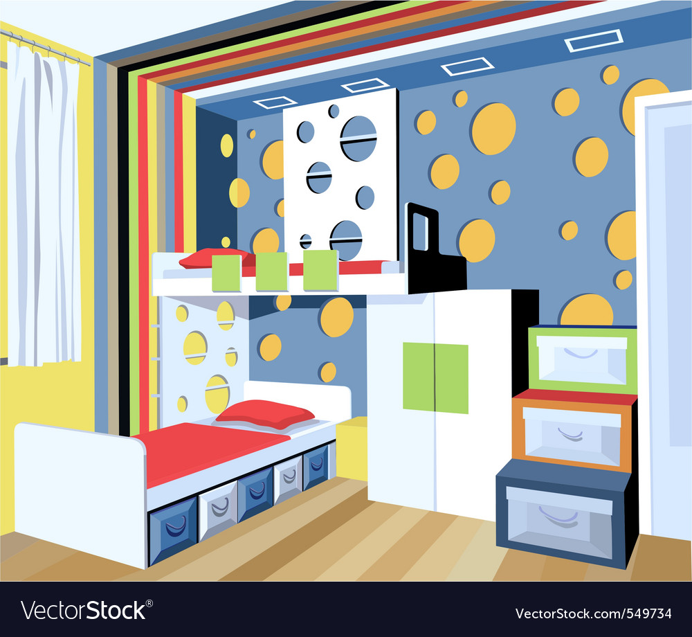Child room vector | Price: 1 Credit (USD $1)