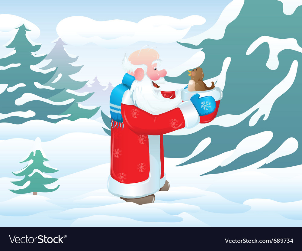 Christmas santa bird vector | Price: 3 Credit (USD $3)