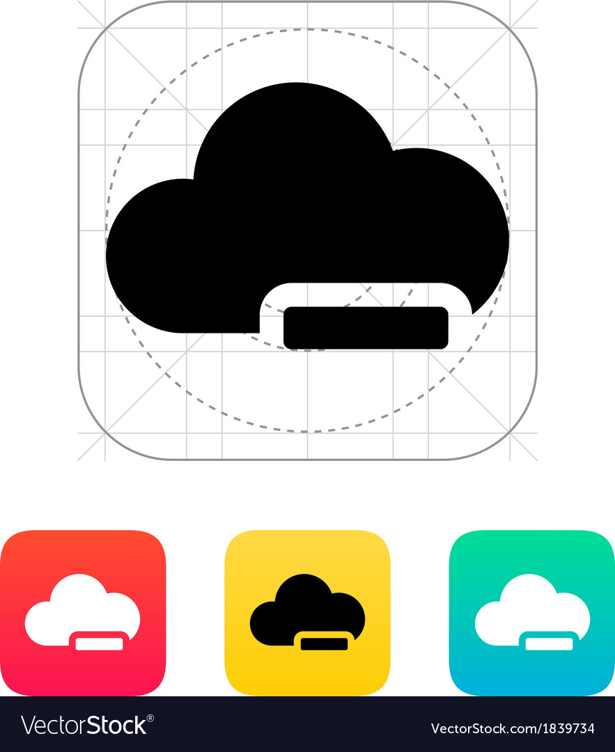 Cloud computing with minus icon vector | Price: 1 Credit (USD $1)