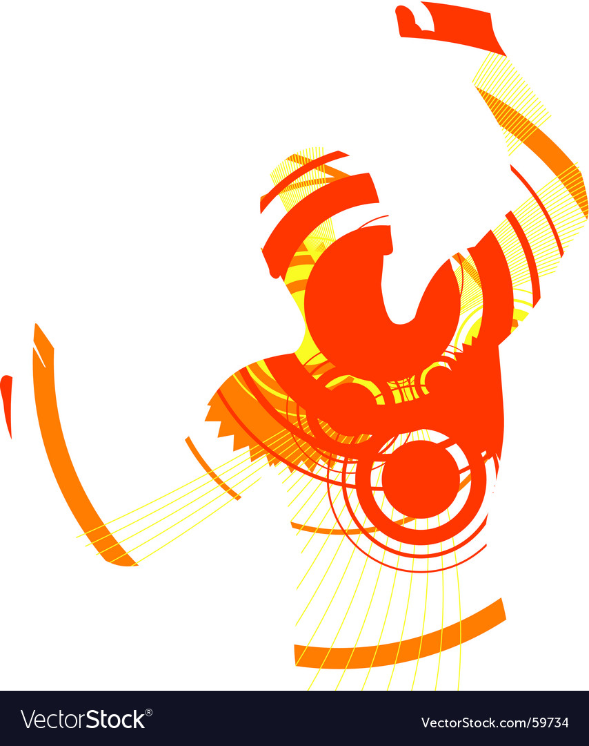 Dancer abstract vector | Price: 1 Credit (USD $1)