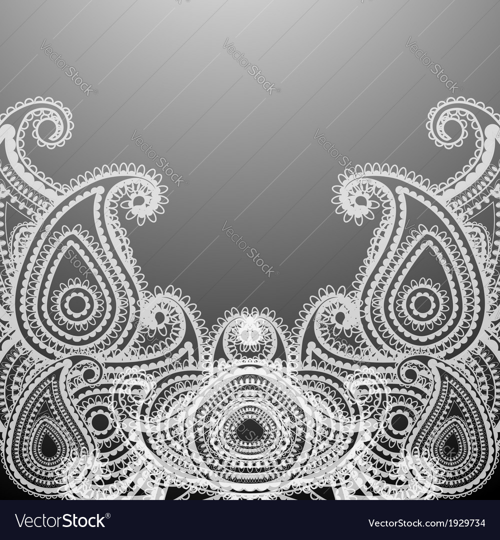 Delicate paisley vector | Price: 1 Credit (USD $1)