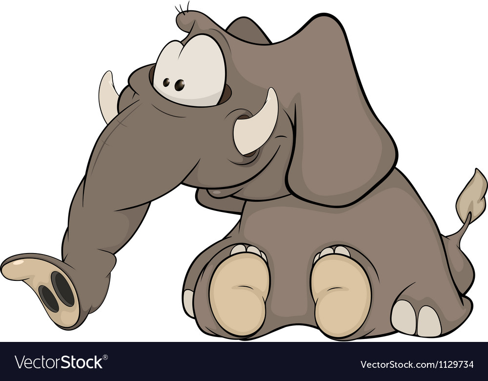 The elephant calf vector | Price: 1 Credit (USD $1)