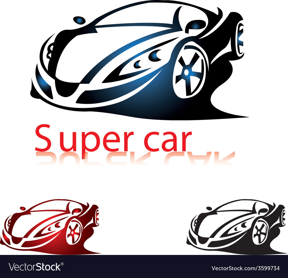 Super car vector | Price: 1 Credit (USD $1)