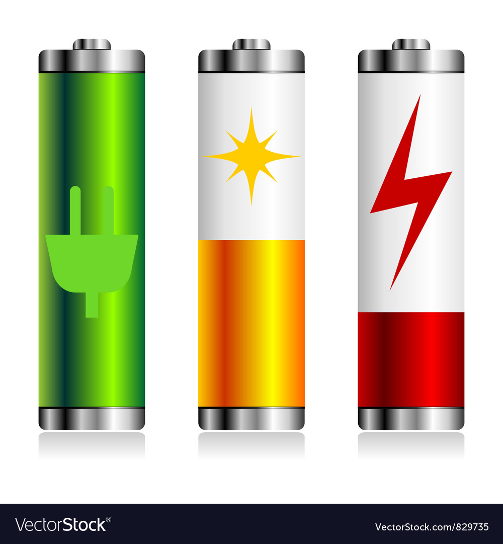 Batterie charge symbols vector | Price: 1 Credit (USD $1)