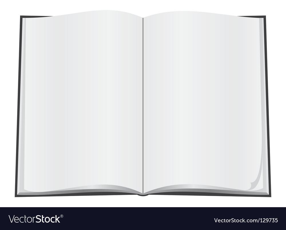 Blank open book vector | Price: 1 Credit (USD $1)