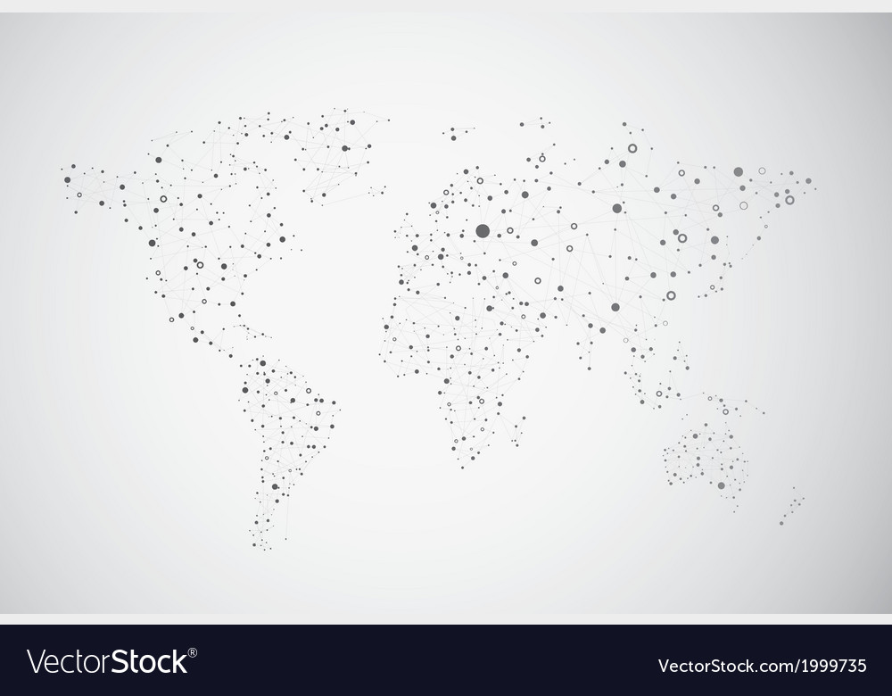 Global connection of cells vector | Price: 1 Credit (USD $1)