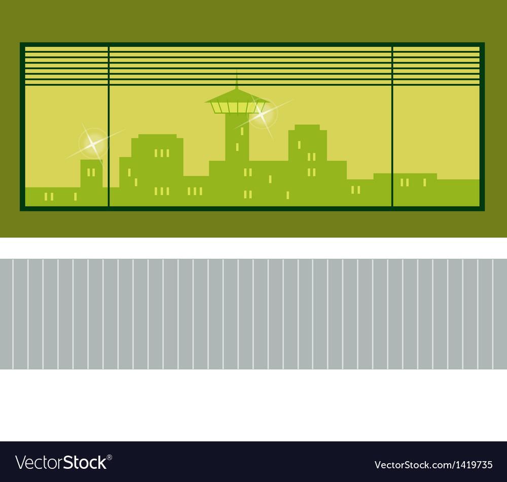 Interior cityscape view vector | Price: 1 Credit (USD $1)