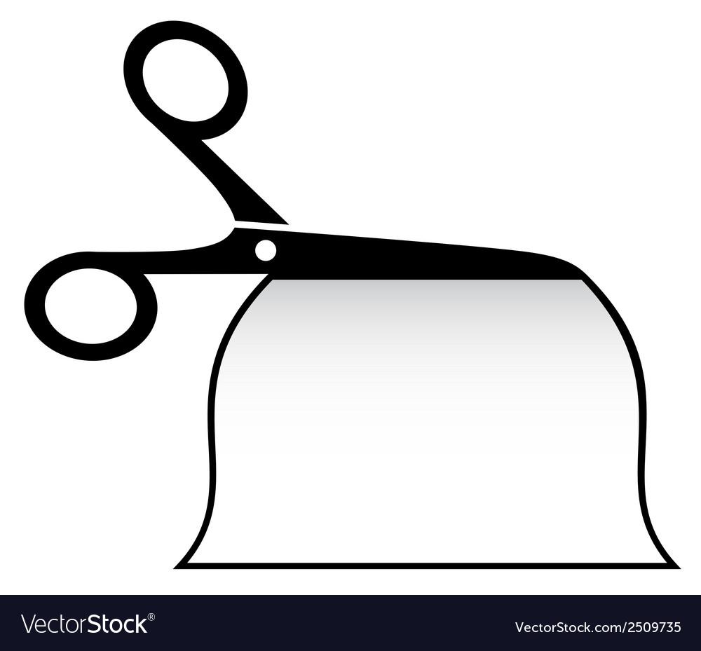 Isolated scissors cut paper vector   Price: 1 Credit (USD $1)