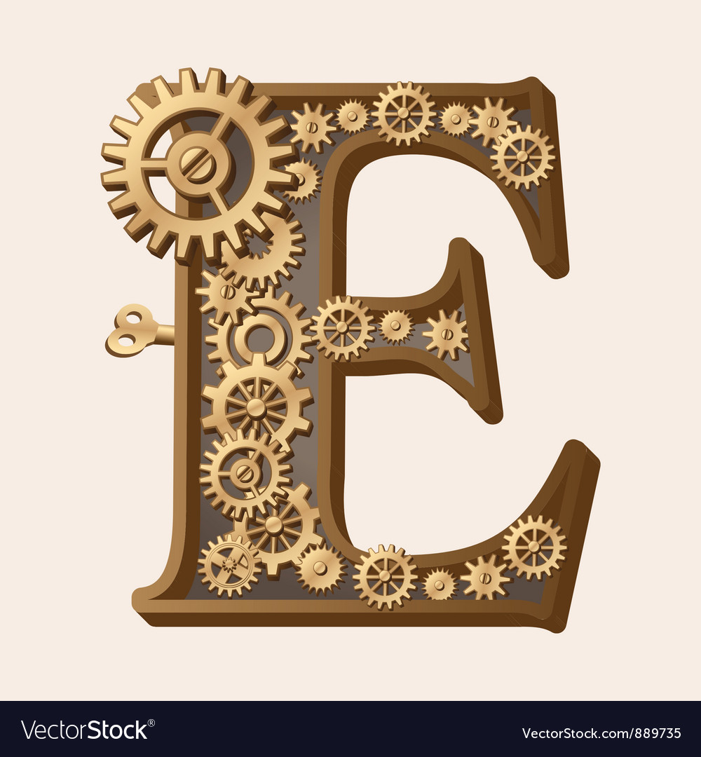 Mechanical alphabet vector | Price: 3 Credit (USD $3)