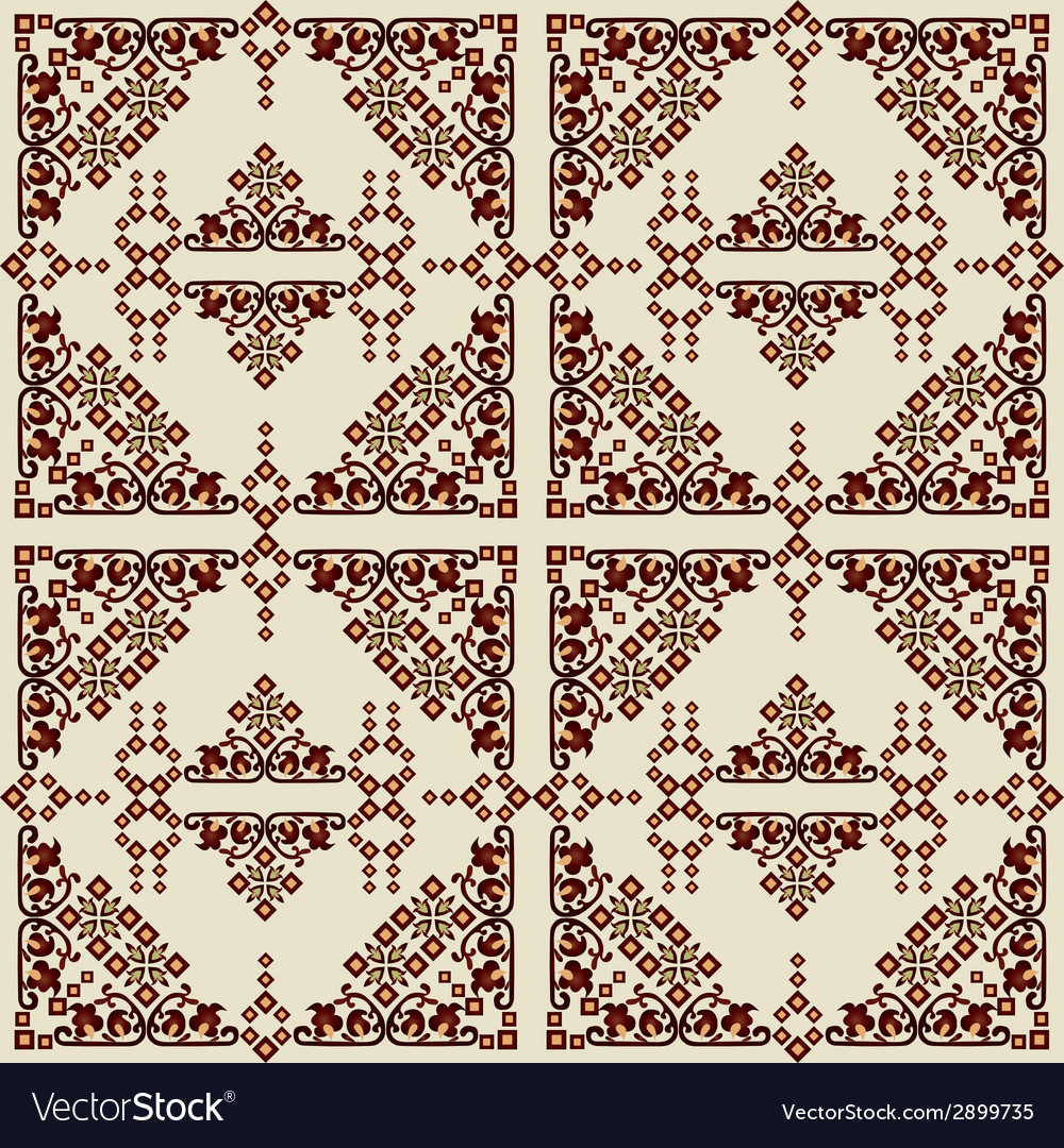 Oriental style seamless pattern eleven vector | Price: 1 Credit (USD $1)