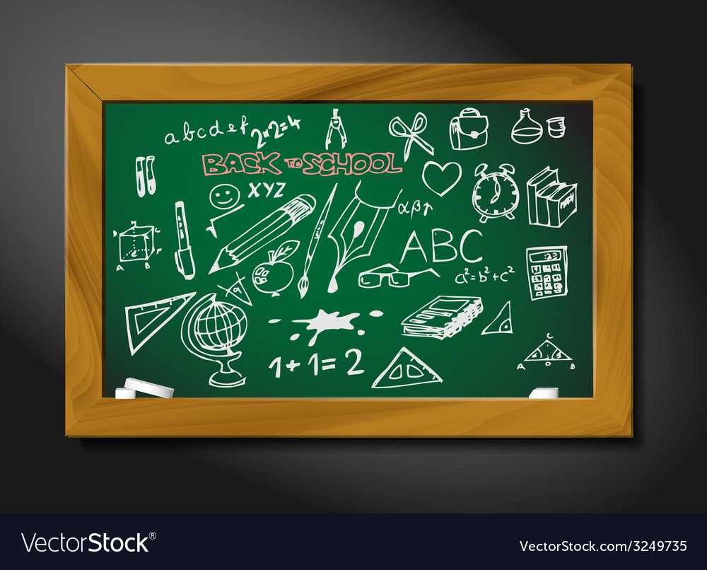 School blackboard vector | Price: 1 Credit (USD $1)