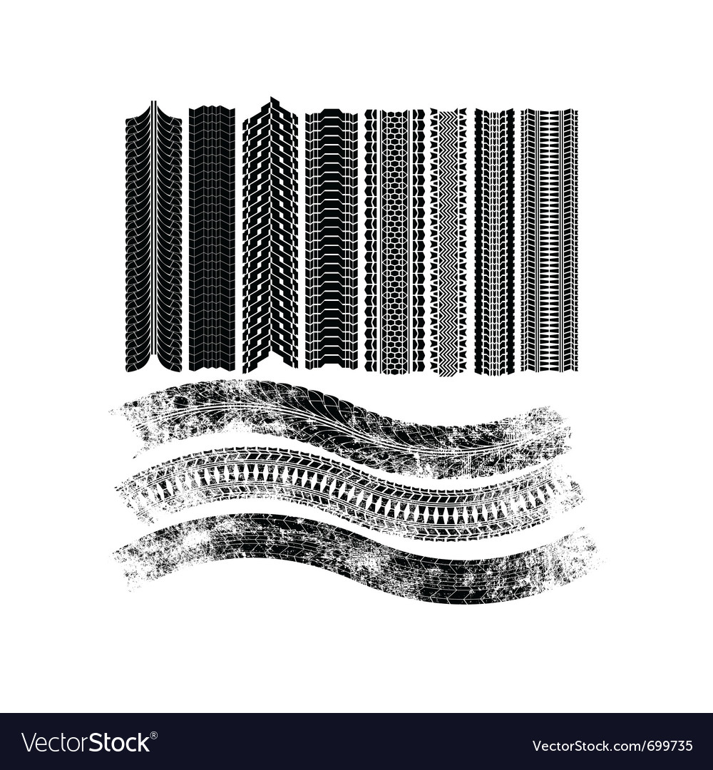 Tire patterns vector | Price: 1 Credit (USD $1)